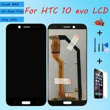 لhtc 10 evo شاشة LCD الجمعية لمس الزجاج ، 10 evo M10f 2PYB2 5 بوصة شاشة LCD الأصلي أسود أبيض