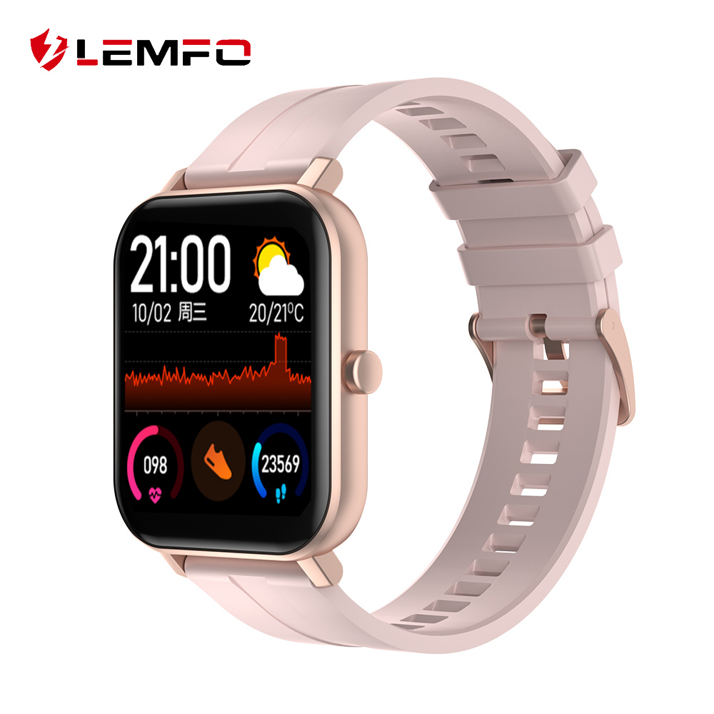LEMFO Smart Watch Women 2020 HD Screen Weather Monitor 14 Days Standby Women Smart Watch For Android IOS GTS Phone Watch