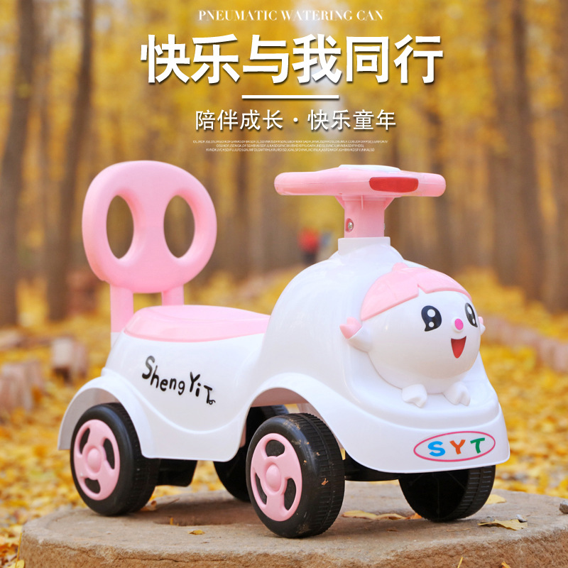 2021 New Children's Taxi Four-wheeled Walker Baby Stroller 1-3 Years Old Can Take The Baby Toy Car Scooter