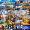 Puzzle 1000 Pieces Jigsaw Puzzles For Adults Paper Quality Assembling Puzzle Games Childrens Kids Educational Toy Christmas Gift