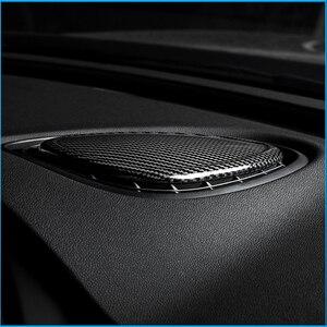 Image 3 - 탄소 섬유 대시 보드 센터 콘솔 공기 콘센트 장식 스티커 미니 쿠퍼 S F54 F55 F56 F57Car 인테리어 액세서리