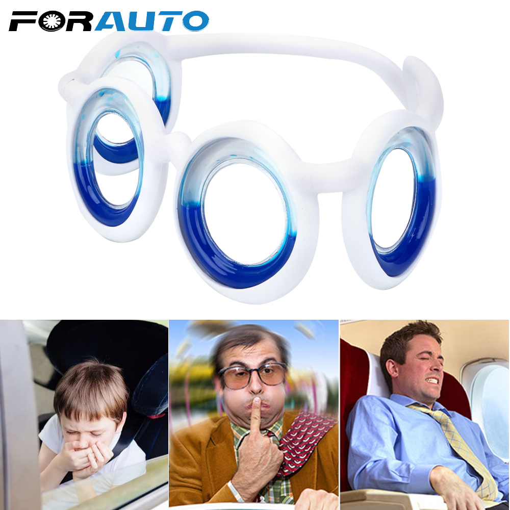 FORAUTO Anti-motion Sickness Glasses Portable Removable Smart Seasick Airsick Liquid Glasses Unisex Lens-Free Folding