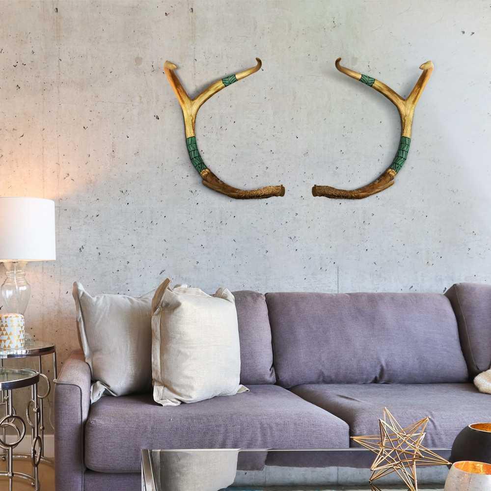 Retro antler animale creativo della parete appeso accessori scultura astratta della decorazione della parete artigianato soggiorno caffetteria della parete decorazione della casa