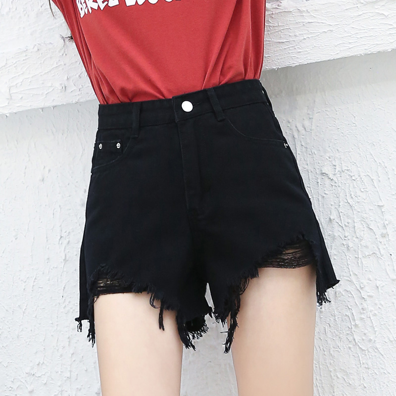 Hot Summer High Waist Denim Shorts Fashion Sexy Mini Button Short Pants Black White Shorts 2020 New Leisure Plus Size Pants