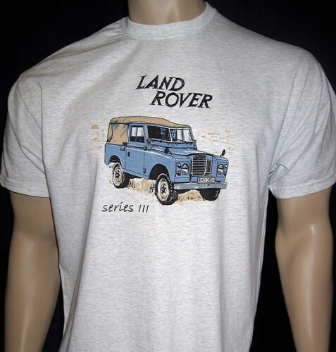 Land Harajuku Shirt For Men Rover Series 3 T Shirt Ash Grey Or Natural Siii Available In 5 Sizes