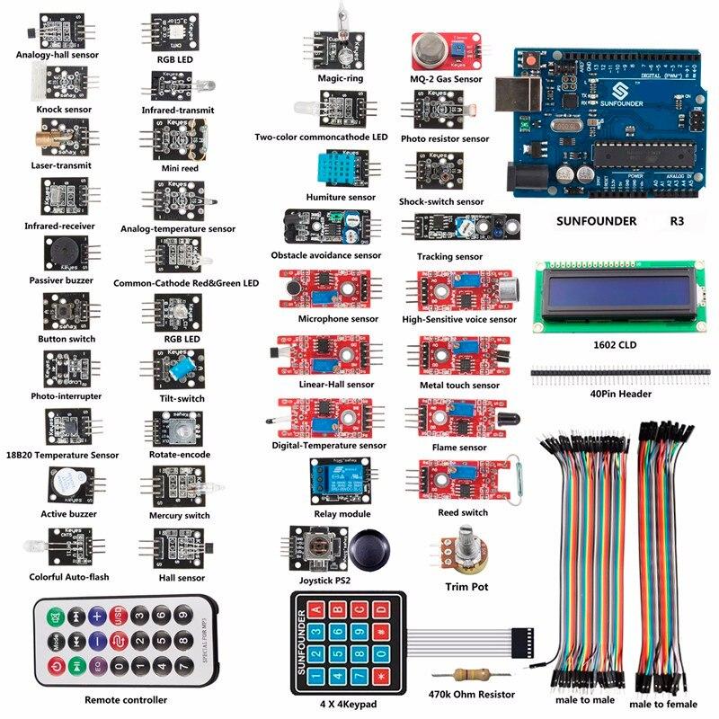 SunFounder Learning Kit Für Arduino 37 Module R3 Sensor Kit V1.0 Für Arduino Einschließlich UNO R3 Bord