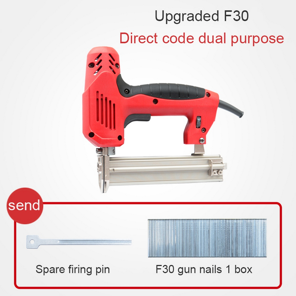 2 In 1 Electric Staples Gun Nails 2000W Electric Power Tools For Woodworking Paper Wallboard Nail Door Panel Hand Tool