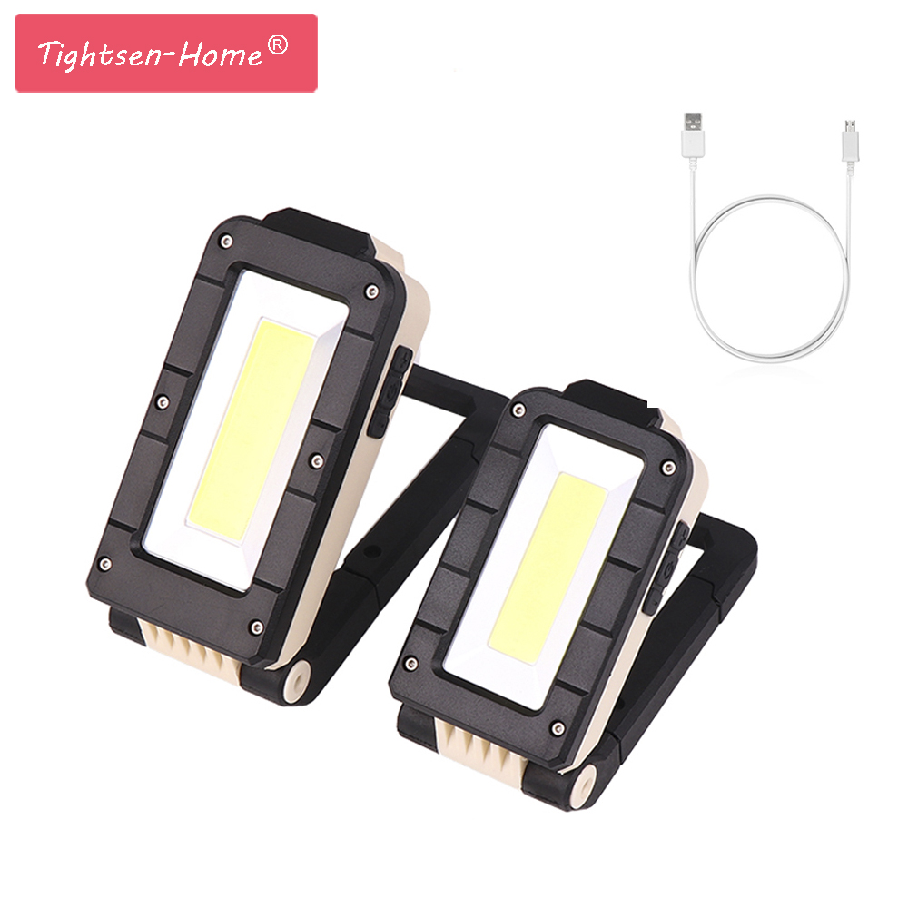 COB Work Light Rechargeable Magnetic Flashlight XPE Led Lanterna Build-in Battery USB Light Camping Garage Tooling Work Lamp