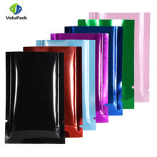 Multi Colors Smell Proof Packaging Bags Open Top Vacuum Heat Sealing Pouches Eco-friendly Recyclable Metallic Mylar Storage Bags
