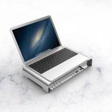 Aluminium Legierung Halterung Computer Monitor Stand Display Screen Lagerung Rack Laptop Ständer Halter Halterung Erhöhung Montieren