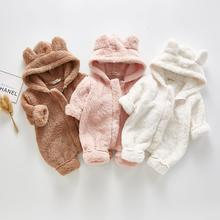 Mudipanda 2021 зимняя одежда для маленьких девочек милый плюшевый