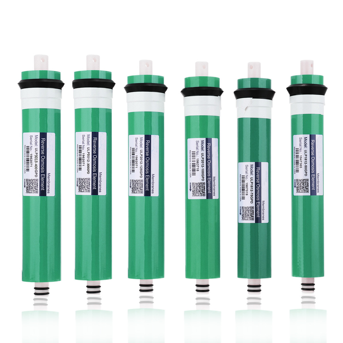 50/75/100/125/300/400GPD Kitchen Reverse Osmosis RO Membrane Water Filter Replacement Water System Purifier Drinking Treatment