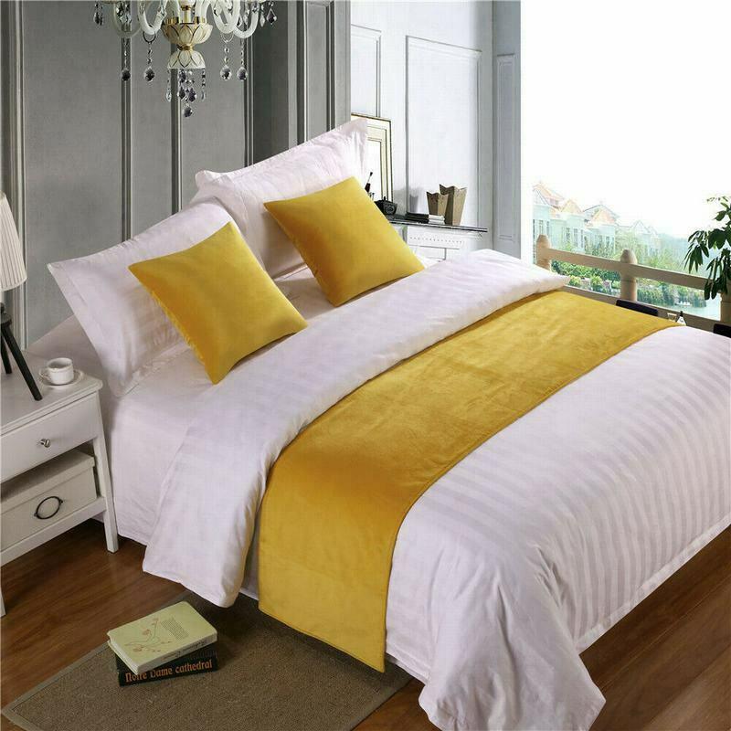 Европейский Стиль роскошь бархата кроватные бегунки пледы домашняя декорация для дома и отеля кровать флаг Свадебный Спальня Кровать хвос...