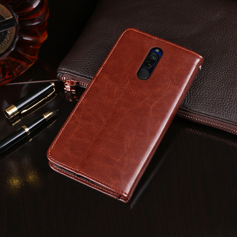 For Xiaomi Redmi 8 Case Flip Wallet Business Leather Fundas Phone Case for Redmi 8 Cover Capa with Card Slot Accessories