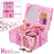 New Pink Ballerina Dancing Girl Music Box Ornaments Home Dec