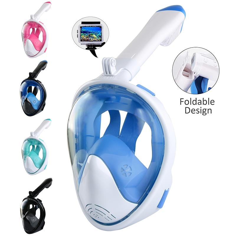 Маска для дайвинга складные полностью закрытые противотуманные очки с креплением для камеры Подводная маска для плавания с широким видом д...