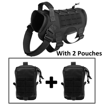 Tactical Dog Vest Military Hunting Shooting Cs Army Service Dog Vests Nylon Pet Vests Airsoft Training Molle Dog Vest Harness 10
