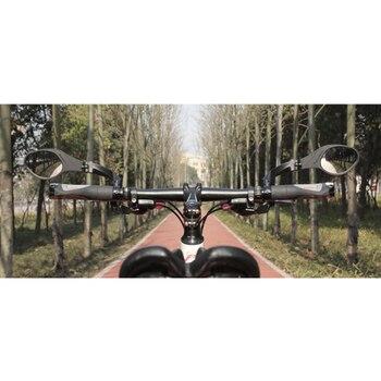 Rétroviseur vélo 360 degrés réglable en acier inoxydable réfléchissant en Nylon résine guidon vélo poignée rétroviseur