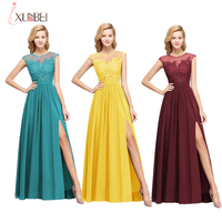 Candy Colors New Bridesmaid Dress Wedding Party Sexy High Split Long Dress Sleeveless Draped Formal Dress Women Elegant