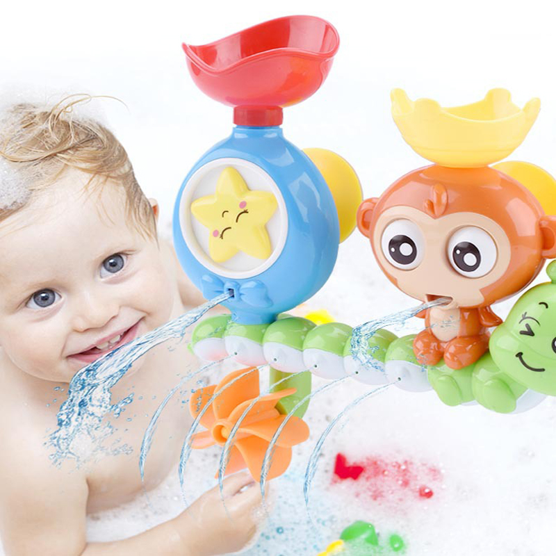 Baby Bath Toy Suction Cup Track Water Games Toys Summer Children's Play Water Bathroom Bath Shower Water Toy Kids Birthday Gifts