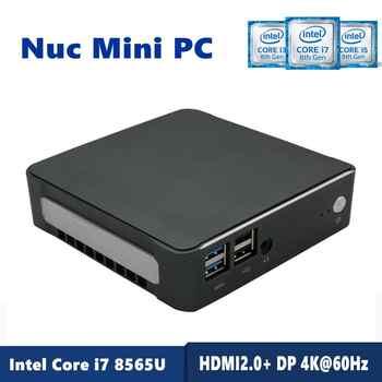 NEW 8Th Gen Intel Core i7 8565U 64GB RAM DDR4 NVME M.2 SSD Nuc Mini PC Windows 10 Pro AC Wifi 4K HTPC HDMI Type-c  Desktops - DISCOUNT ITEM  33% OFF All Category