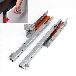 1Pair Rebound Press Push To Open Under Mount Furniture Kitchen Bath Drawer Slide Rail Runner DTC 25KG 2-fold Half Extention