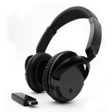 Profesional Nirkabel FM Headphone Earphone untuk TV PC Komputer MP3 Over-Ear Headset Mendukung Fungsi FM dengan USB Transmitter