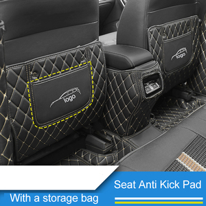 Image 3 - QHCP Seat Anti Kick Mat Armrest Box Anti kick Pads Protector Leather For Subaru Outback Forester Legacy 2015 2016 2017 2018 2019
