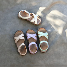 Children's sandals Sheepskin jelly princess shoes 2021 summer baby casual beach shoes little girl soft bottom open toe sandals