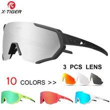 X-TIGER Sommer Polarisierte Gläser Radfahren Im Freien Sport MTB Fahrrad Brille Männer Frauen UV400 Bike Sonnenbrille Brillen Myopie Rahmen