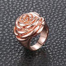 Прямая поставка из США золотые кольца на палец с цветком розы
