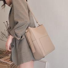цены Large Capacity Women Shoulder Bags Designer Brand Handbags Luxury PU Leather Crossbody Bag Casual Totes Simply Buckets Bag Purse
