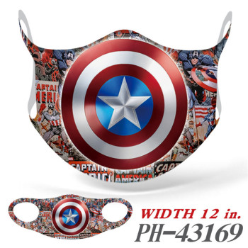 Marvel Spiderman Captain America Characters Mask Cosplay Face Men Women Fabric Mouth Cover Dustproof Facemask Mascarilla