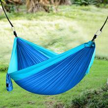 Hammock outdoor camping camping hammock outdoor garden family portable double hammock swing chair 260X140CM swing chair rede camping hammock hammock swings