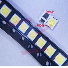 100 pçs/lote 3 1W 2835 V SMD LED 3528 100LM branco Fresco Para TV/LCD Backlight Aplicação