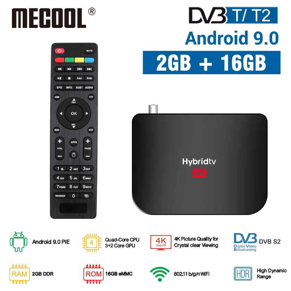 Mecool 2020 Nieuwe M8S Plus Dvb T/T2 Android 9.0 Tv Box Amlogic S905X2 4K H.265 2.4G wifi Set-Top Box