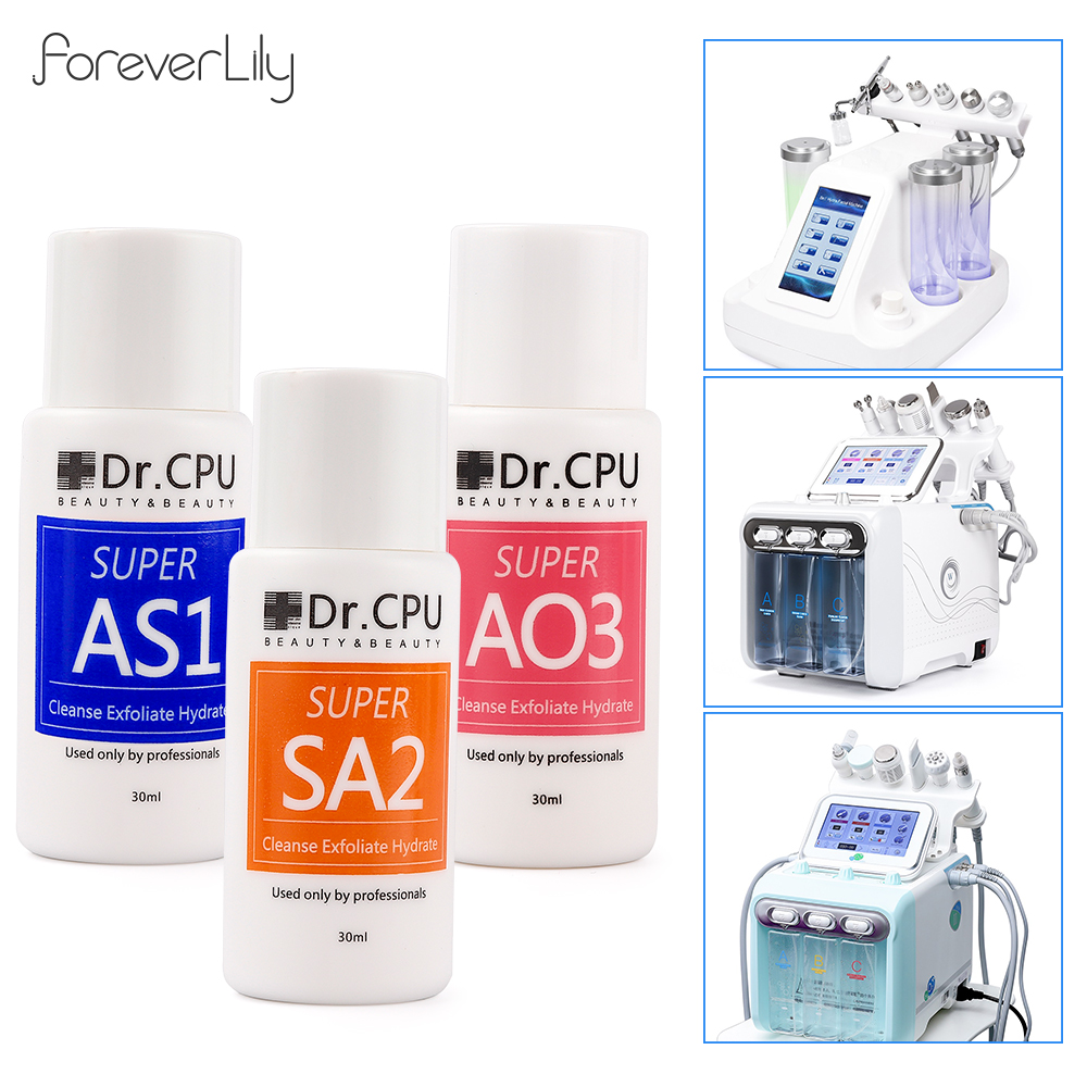 Concentrated Aqua Peeling Solution AS1 SA2 AO3 30ML Diluting 400ML For Hydra Dermabrasion Beauty Machine Facial Skin Care Serum