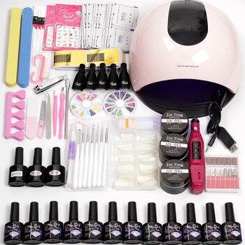 12 Color Gel Nail Polish Varnish Extension Kit with 15pcs/36pcs Led Uv Nail Lamp Kit for Manicure Set Acrylic Nails Art Tools 2