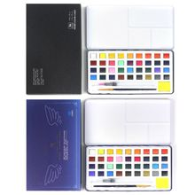 36 Colors Foldable Portable Solid Pigment Watercolour Paint Essential Set for Artists Students