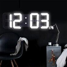 3D Large LED Digital Wall Clock Date Time Celsius Night Light Display Table Desktop Clocks Alarm From Living Room