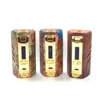 Original Yiloong Fogger DNA250 Stabilized Wood box mod by 2*18650 battery DNA chip E cigarette mods for rda rda rdta vape pen