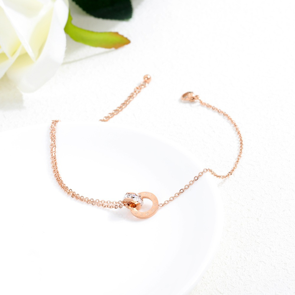 Stainless-Steel-Round-CZ-Anklets-For-Women-Charm-Rose-Gold-Ladies-girl-summer-Foot-Jewelry-Gift (2)