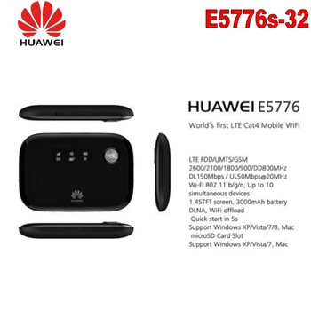 4G TS9 Antenna+  New Arrival UNLOCKED Original HUAWEI E5776 150MBPS CAT4 4G MOBILE MIFI WIFI Wireless Router