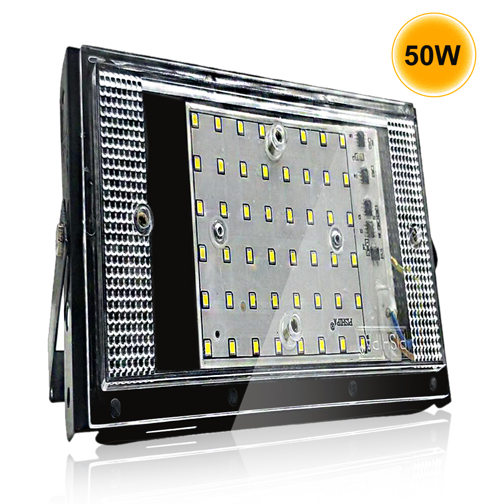 Led Floodlight 10W 50W Acryl Waterproof IP65 LED Flood Light Outdoor Floodlight 220V Wall Reflector Led Wall Washer