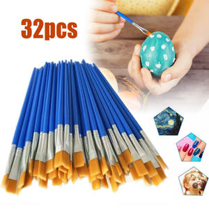 Paint-Brushes Professionals for Beginners School-Supply Art-Supplies Nylon-Hair 32pcs/Set