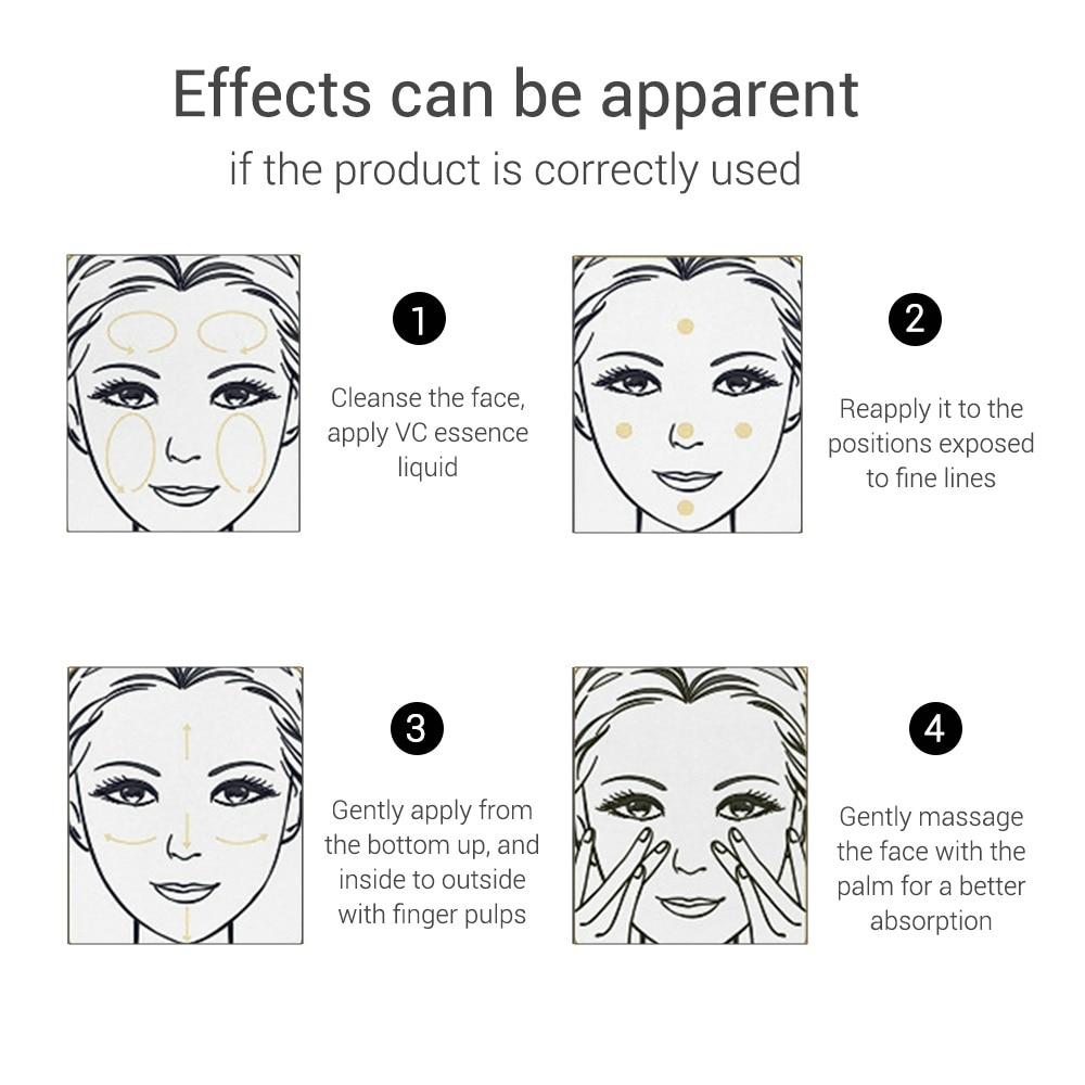 LANBENA Vitamin C Whitening Face Serum Essence Liquid Removing Dark Spots Freckle Speckle Fade Dark Spots Anti-Aging Skin Care