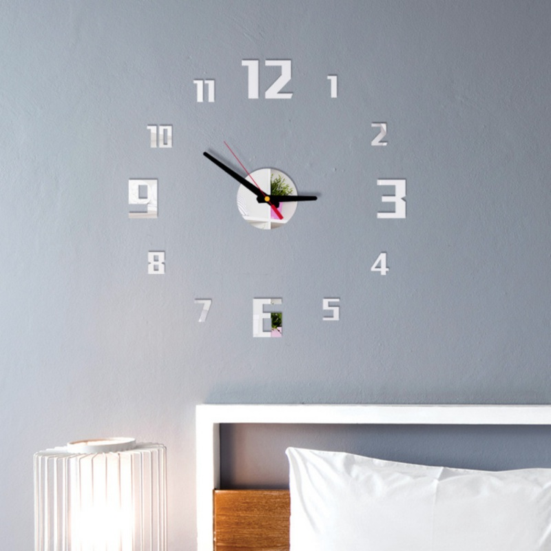 Permalink to Decorative wall sticker home decoration clock frameless 3D DIY wall clock living room home decoration mirror wall sticker