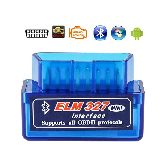 ELM327 V1.5 Bluetooth OBD2 OBDII Automotive Scanner Auto Code Reader Scan Tools ELM 327 Car Diagnostic Tools For Android Symbian