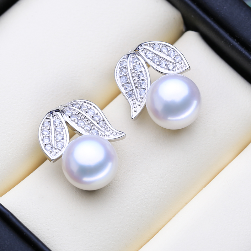 FENASY 925 Sterling Silver Stud Earrings Natural Freshwater Pearl Earrings For Women Christmas Fashion Boho Jewelry