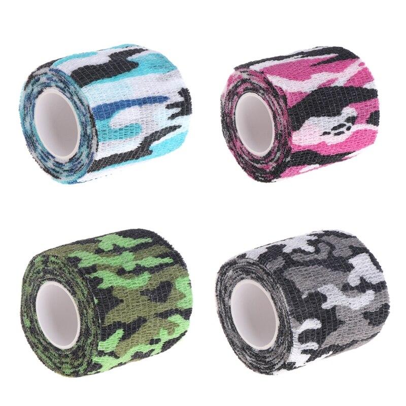 Tattoo Self-adhesive Non-woven Elastic Sport Tape Bandage Grip Tube Cover Wrap G32E